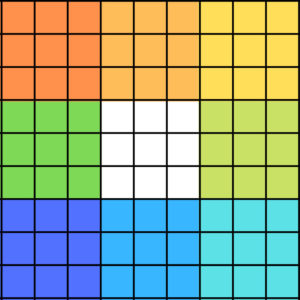 8×8の91マスのマンダラチャート(マンダラート)
