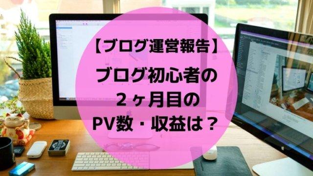 ブログ初心者の2ヶ月目のPV数・収益