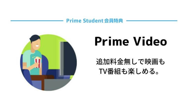Amazon Prime Student(アマゾンプライムスチューデント)の会員特典・Prime Video