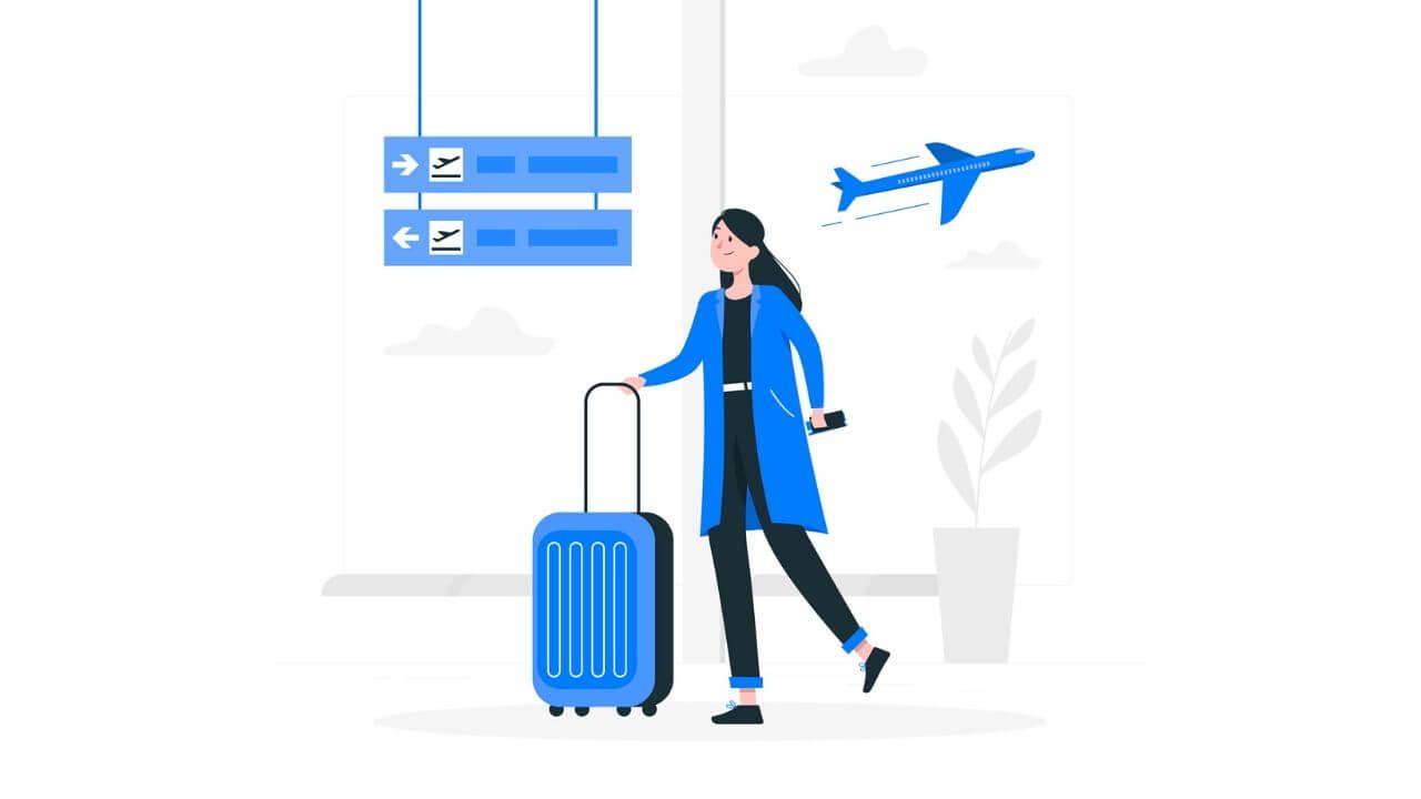 旅行を楽しみにしている女性