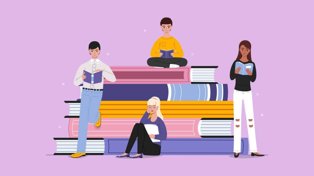 読書する若者